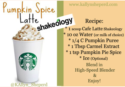 Pumpkin Spice Latte Shakeology