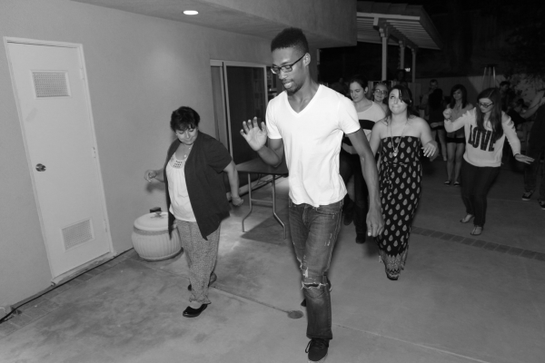 Showing the guest at the party how to do the Wobble or the Cupid Shuffle! Regardless, it was a great time.