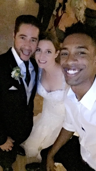 My good friends Stephanie and Beau on their dazzling wedding!