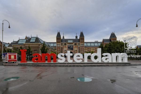 IAmsterdam השלט שבכיכר המוזיאונים באמסטרדם