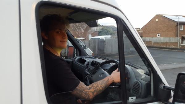 Driving the van