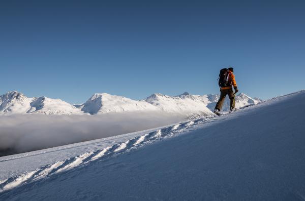 Ski Touring behind Whistler Mountain