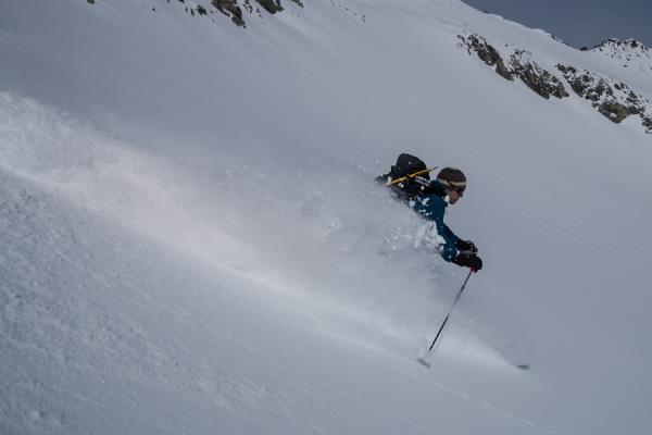 Backcoountry skiing behind Blackcomb