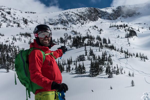 Backcountry skiing Duffey Lake area
