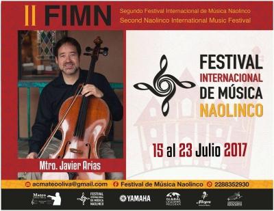 Festival Internacional de Música en Naolinco, Veracruz. Julio 15 al 23, 2017
