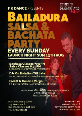 Salsa & Bachata Every Sunday in Oxford Circus