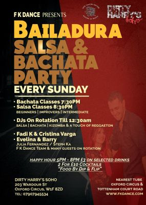 Salsa & Bachata Every Sunday in Oxford Circus