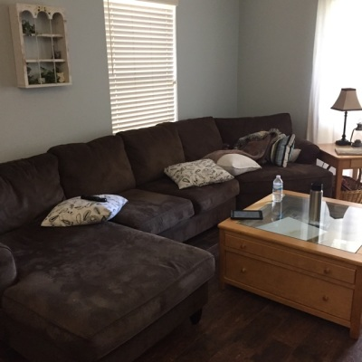 Client Living Room Before Cleaning