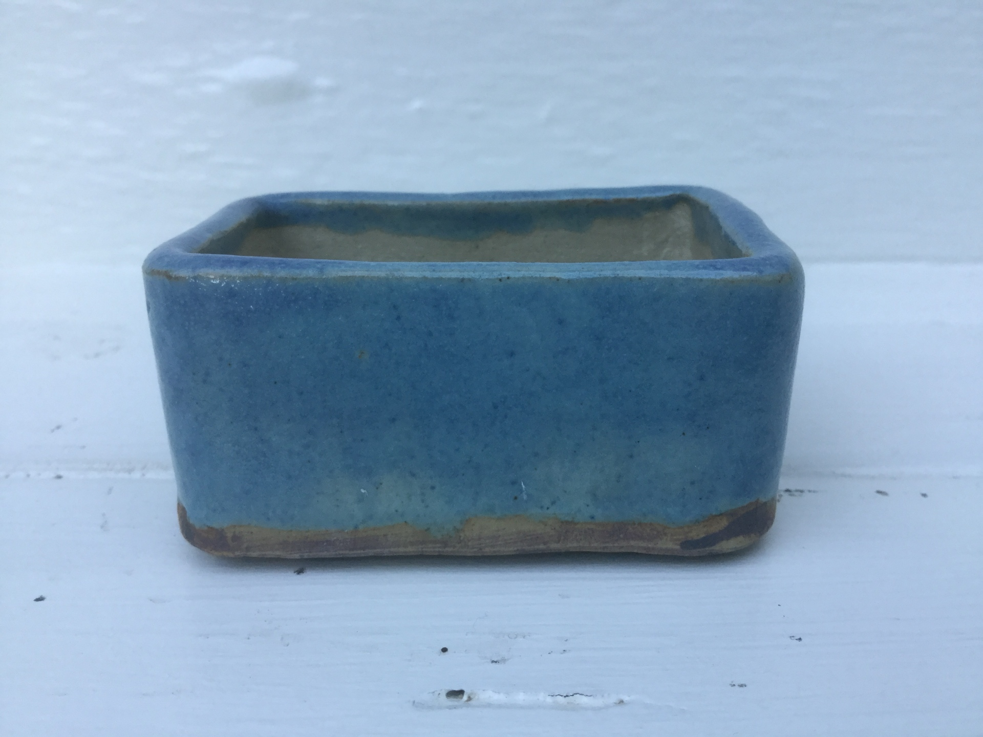 Oblong Accent with Blue Glaze