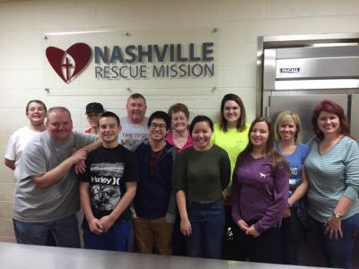 Youth at Nashville Rescue Mission Feb 2017