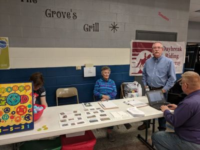 Booth at Cedar Grove Elementary March 2018