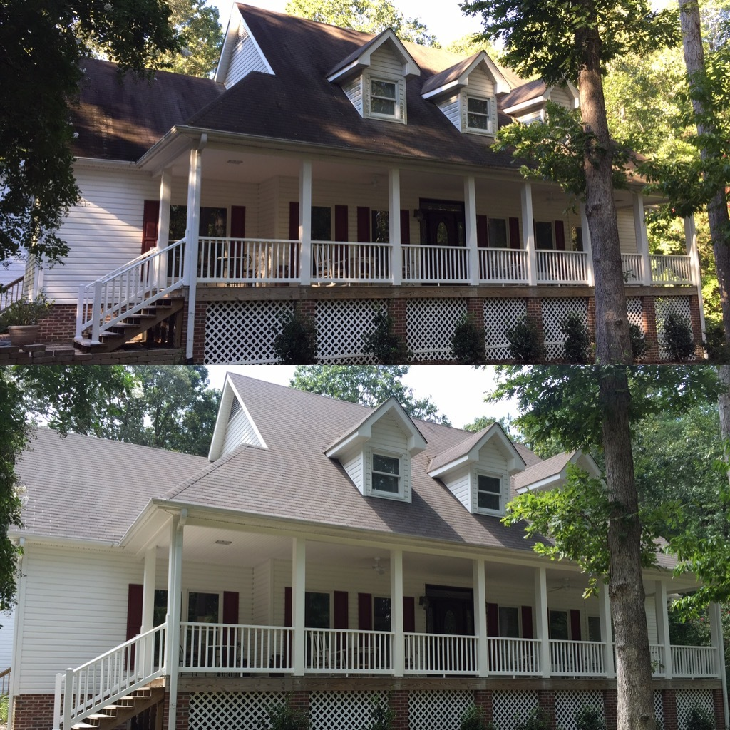 Our pressure washing team will get your roof looking fresh and clean - serving Raleigh and surrounding areas.