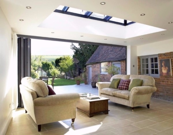 contemporary living orangery
