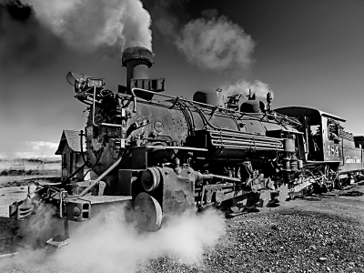 CUMBRES AND TOLTEC RAILROAD ENGINE 484