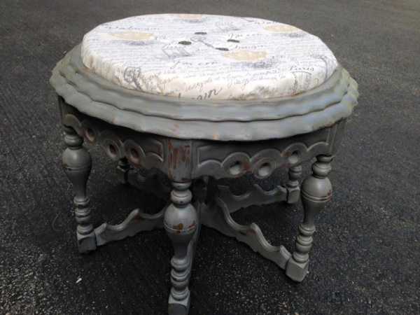 Repurposed Gate Leg Table into Ottoman/Coffee Table