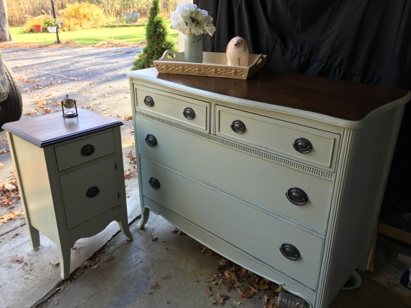 Antique Dresser and Nighstand