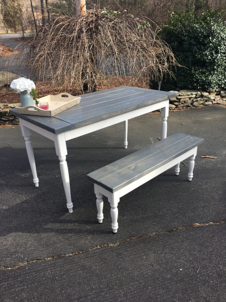 Gray Stained Farmhouse Table - A True Favorite!
