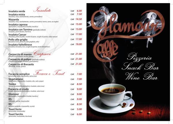 Carta Glamour Caffè TMN