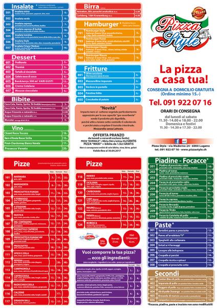 Flyer Pizza Style TMN