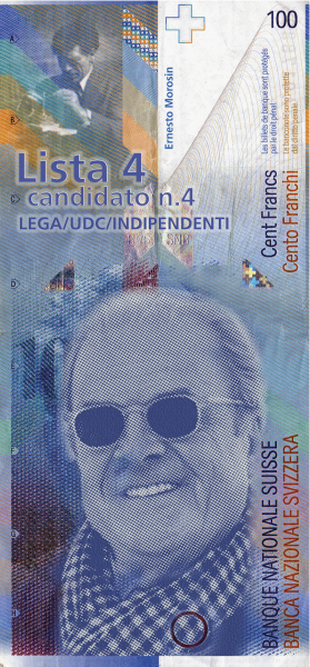 Biglietto Banca 100 chf
