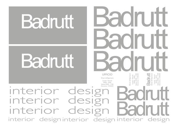 Adesivi vetrine Badrutt Lugano