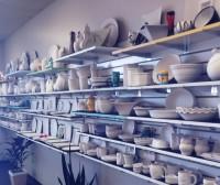 Pottery on Shelves