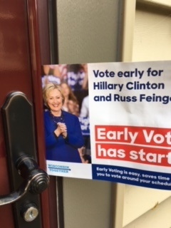 Hammering On Doors for Hillary