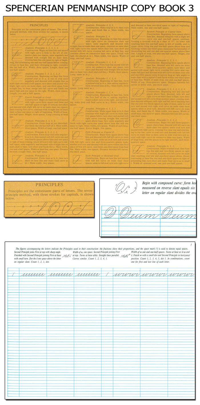 spencerian penmanship theory book plus five copybooks pdf
