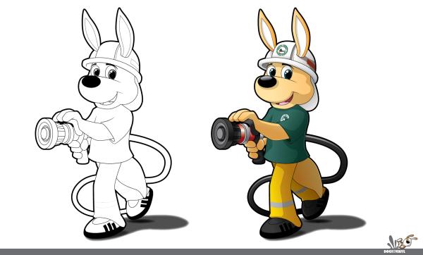 Company Mascot & Colouring Graphic