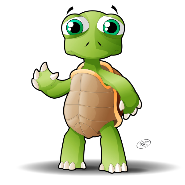 Turtle Vector Graphic for Mobeil App