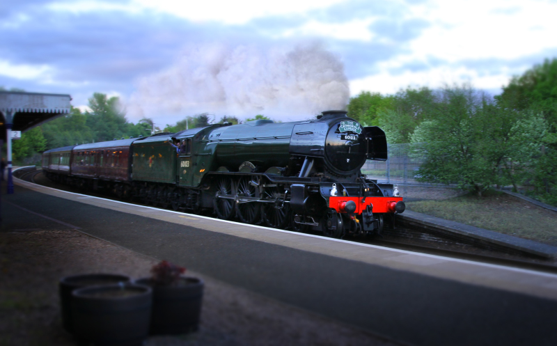Flying Scotsman returning to Scotland.