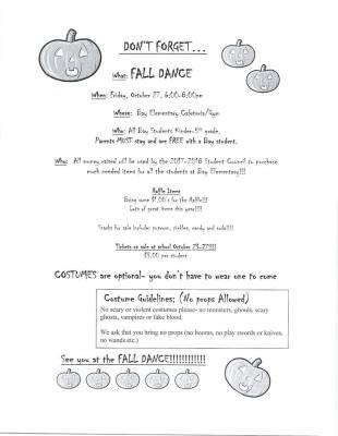 FALL DANCE October 27th