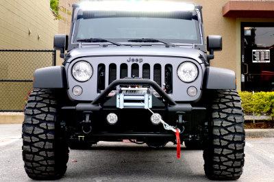 hid pro jeep wrangler matte dark gray
