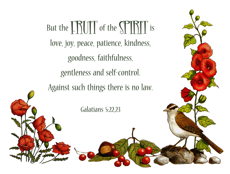 But the FRUIT OF THE SPIRIT is...