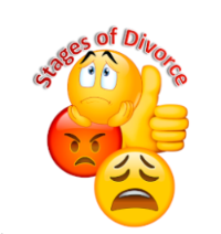 Stages of divorce emoji