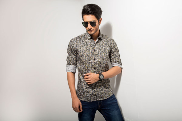 Casual Mens Patterned Shirt Style #C002