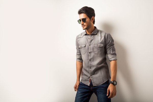 Mens Casual Grey Shirt   Style #C006