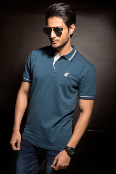 Mens Light Blue Classic Fit Polo Tshirt Style #P002