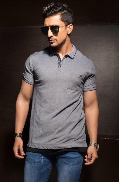 Mens Grey Classic Fit Polo Tshirt Style #P003