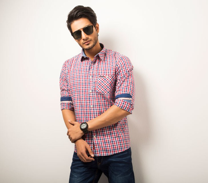 Casual Mens Check Shirt Style # C003