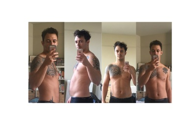 Relaxed progress photos