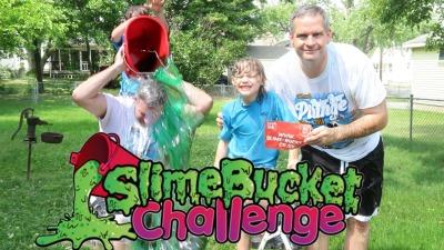 James Lamprey, FunFoodsYT, Slime bucket challenge, charity, challenge
