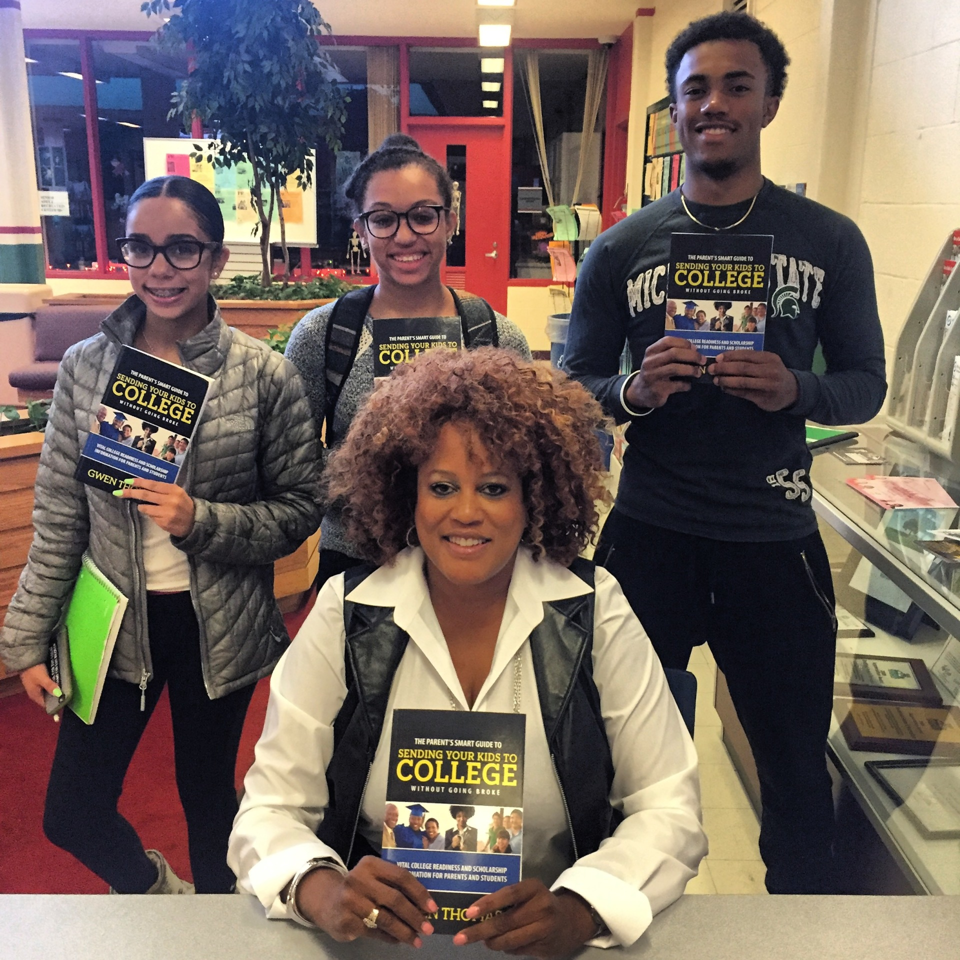 Gwen with Oakland County Jack and Jill Students