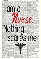 Nurse Art - Nurse's Gift - Upcycled Dictionary Art - Wall Print - Poster