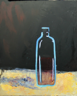 blue bottle - by Tanya Achilleos Lock