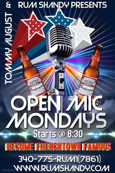 open mic, gig, mondays