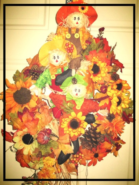 Triple Scarecrow Wreath
