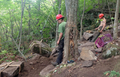 Second round of trail repairs underway on Poke-O Moonshine