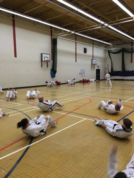 Health and fitmess class,image from a seminar held for Taekwondo martial arts student from sutton coldfield, kingstanding, new oscott, birmingham