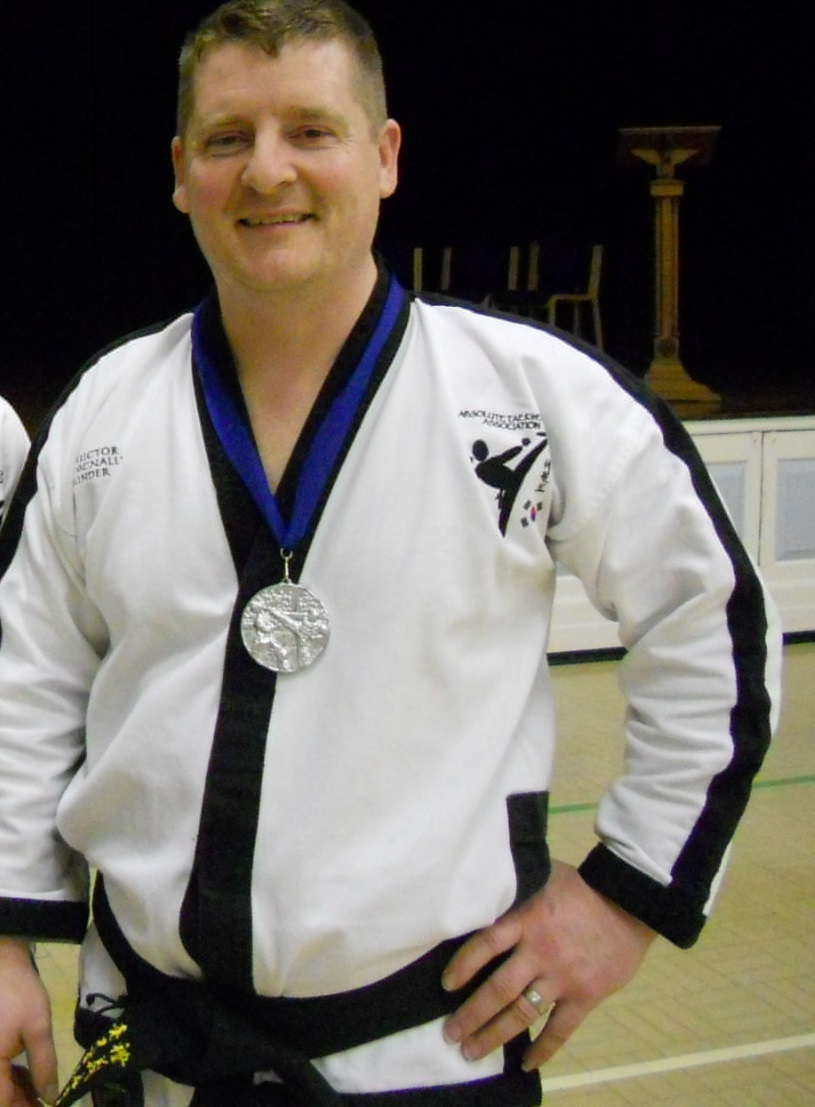 Siver Medal for sparring as a veteran